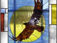 Eagle Stained Glass Door
