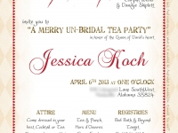 Merry Un-Bridal Tea Party Invitation